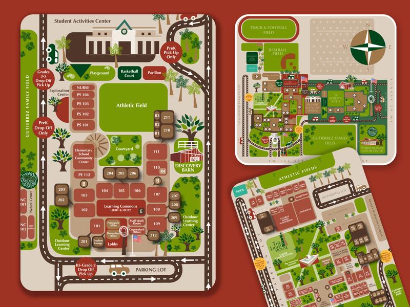 WCS Campus Maps graphic designer designer vector icons icon education school design graphicdesign vector map designer mapdesign maps map illustrator