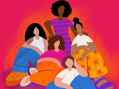International Women's Day 2021 gender equality civil rights feminism woman women characterdesign digital illustration illustration