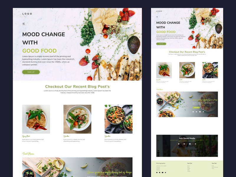 Online food store/blogs website user interface uixdesign website clean design interface uidesign ui clean webdesign landingpage web design design animation landing page branding minimal uiux