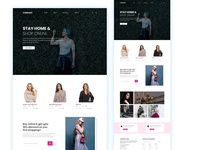 Online shop website UI concept website concept theme design web template templates ux website design ui uidesign web design minimal branding design landing page uiux