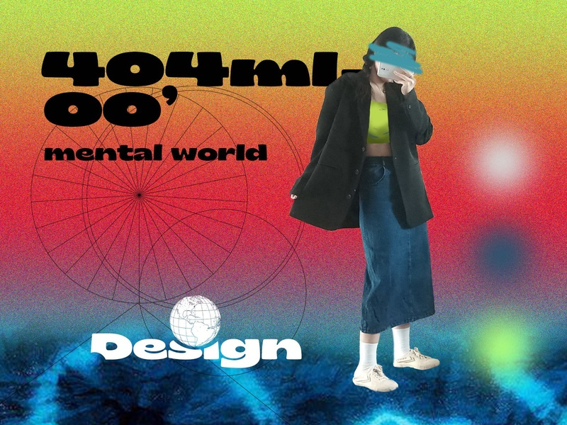 404ml'mental world🌐 branding logo photoshop design