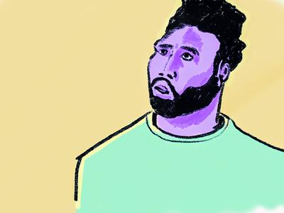 Face atlanta sketch procreate illustration