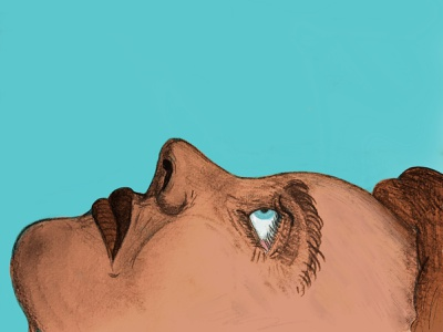 Sky procreate sketch illustration