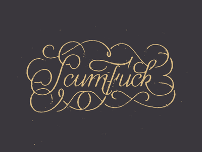ScumF*ck script lettering texture