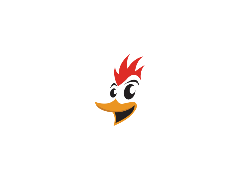 chicken logo by mostafa hisham dribbble