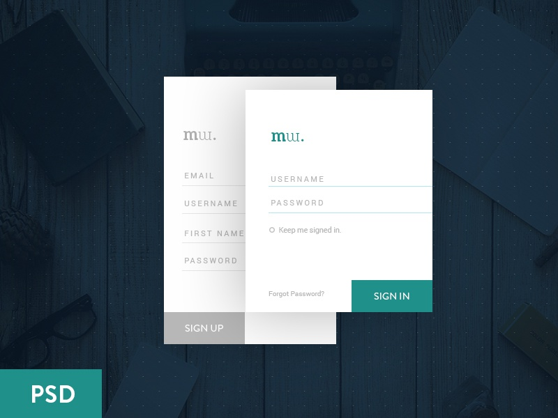 Freebie PSD: Login Form login simple freebie signup sign-in design material flat form psd free ui