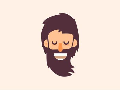 Beard Avatar mustache dude illustration flat style hair guy simple character