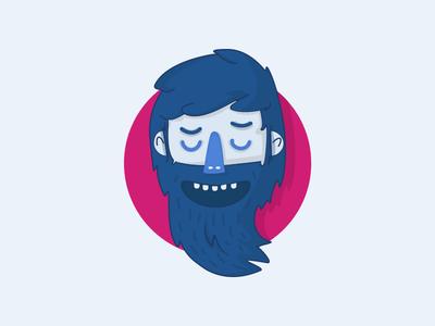 Beardman  long mouth teeth nose scary hair hairy avatar mustache beard