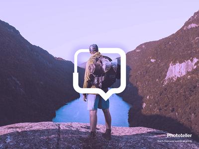 Phototeller App logo location app storytelling photos