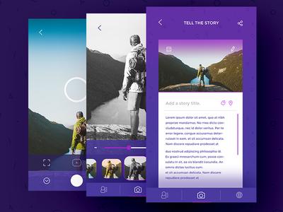 Phototeller App camera screens filters interaction app uiux screens camera
