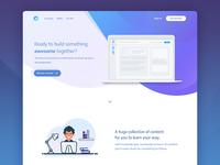 Online courses platform - Landing page