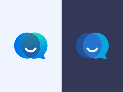 MrReply Logo bubble logo tool intersection interaction marketing facebook bot chat face smile reply