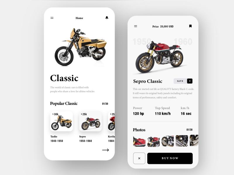 Car App design app ui
