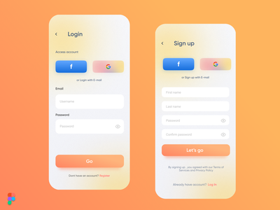 Login/Signup UI (PrintIt) sign up signup page login ui login page login