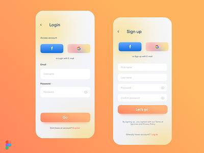 Login/Signup UI (PrintIt) sign up signup page login ui login page login