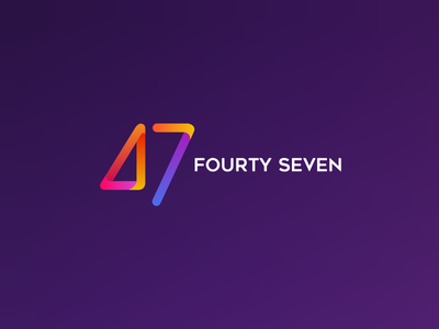 Fourty seven numeral website vector typography pallet logotype logo icon colors brand identity brand design brand