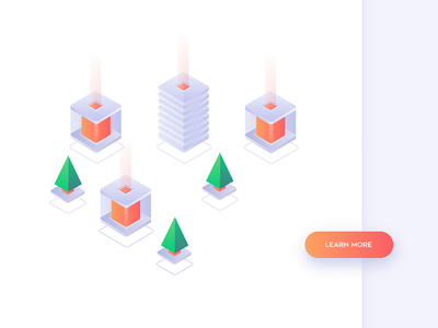 Isometric  concept minimalism vectors concept cube webdesign trees transition fintech bitcoin isometric collaboration 3d ui vector illustration