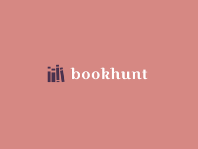 🎃bookhunt givaway minimal illustration icon vector typography typo branding design logo