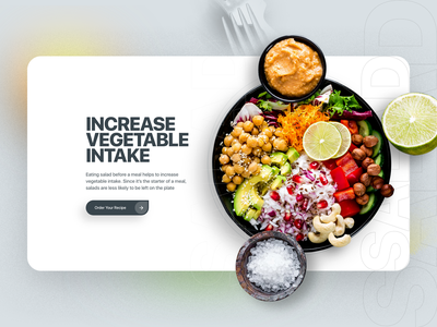 Salad recipes landing page design food flat design typography website webdesign landingpage landing page landing uiux ux ui interface web website design web design minimal