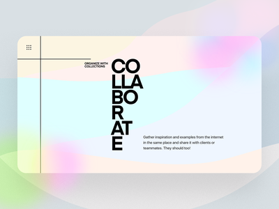 Creative typography header exploration. trendy design glassmorphism illustration colorful landing page flat landing design web typography ux ui