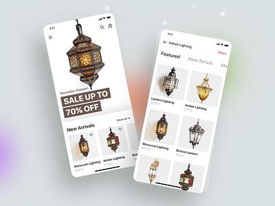 eCommerce - Mobile App web app animation art branding clean color concept design ecommerce ecommerce app typography flat ux ui interface minimal shopping app vector