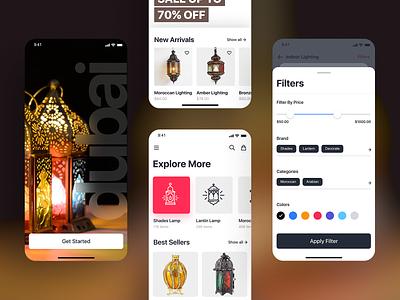 eCommerce - Mobile App dark vector shopping app minimal interface ui ux flat typography ecommerce app ecommerce design concept color clean branding art animation app web