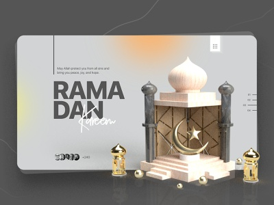 Ramadan Kareem Event Landing Page Exploration product design icons user experience colors interface design solutions trendy design ramadan kareem event 3d website illustration landing page flat landing web design ux typography ui
