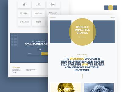 Startup Technology Company Landing Page website logo app colorful vector landing page branding illustration landing flat typography web design ux ui