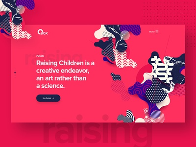 Creative Header Exploration type isometric 2d landing page branding icon colorful illustration landing flat typography web design ux ui