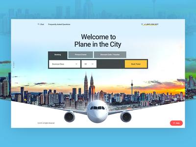 Flight Booking Landing Page flight search booking app booking system flight flight app flight booking illustration landing page branding colorful landing flat typography web design ux ui