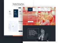 Law Attorneys Service Landing Page