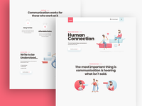 Human Connection Modern Landing Page