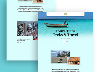 Landing Page for Tours & Travels
