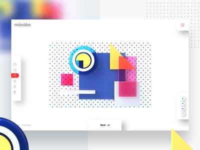 Creative Header Exploration isometric design creative  design header exploration cinema 4d 4d 3d 2d isometric landing page colorful landing web typography design ux ui