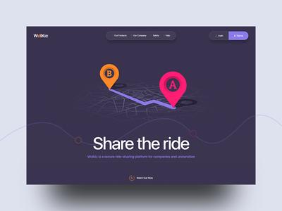 Ride Sharing Landing Page