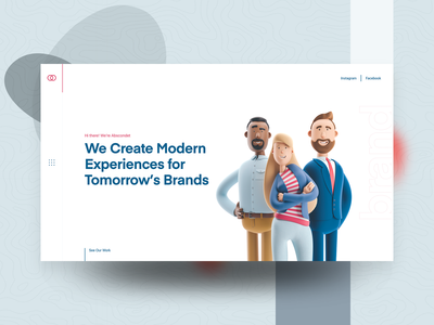 Digital Agency Header Exploration