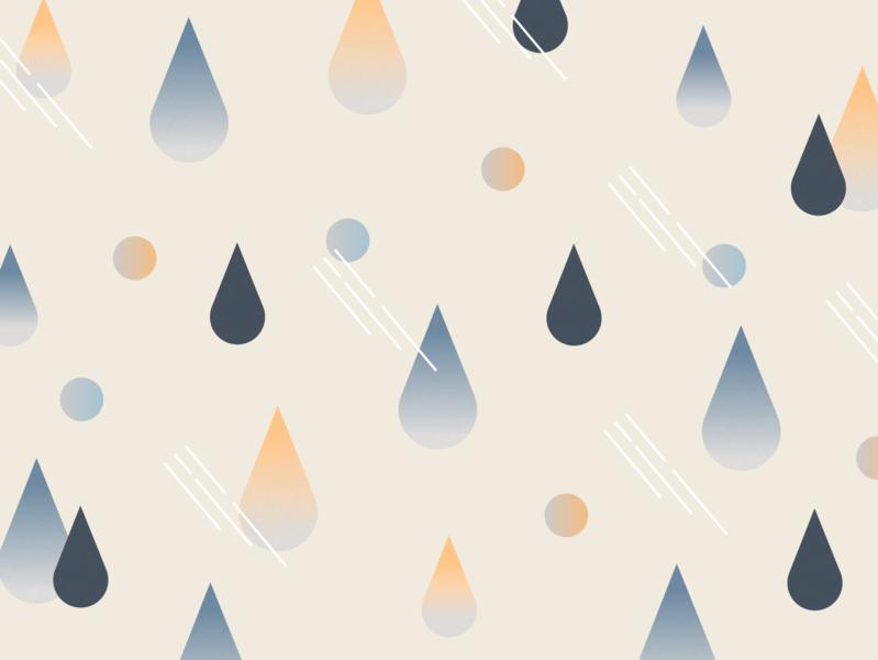 Weekly Pattern #012 gradient illustration graphicdesign design drop water dot pattern rainy rain