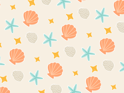 Weekly Pattern #016 summer shell ocean beach sea illustration texture abstract pattern