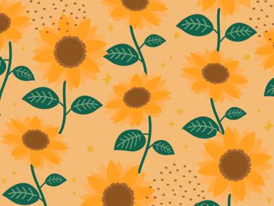 Weekly Pattern #017 design pattern flower summer sun sunflower