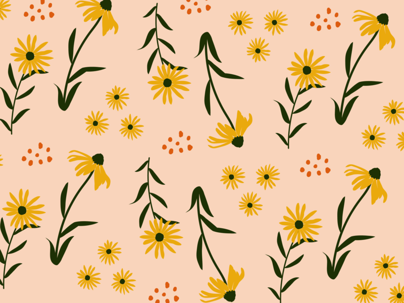 Weekly Pattern #021 blackeyedsusan flower textile design illustration texture pattern