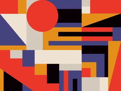 Weekly Pattern #026 bauhaus architecture design retro geometric texture illustration abstract pattern