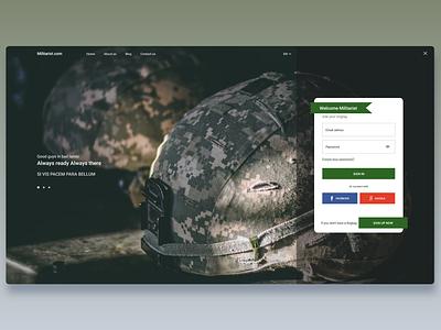 Authorisation page website web design ui