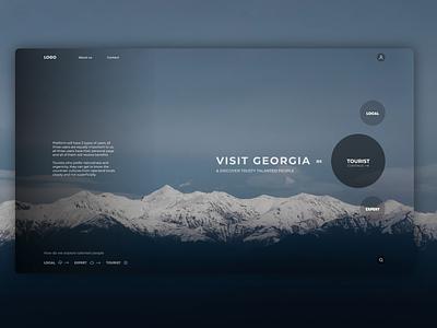 Tour platform for Georgia typography minimal website web ux ui design