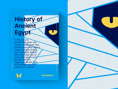 History of Ancient Egypt illustration branding poster wondrium