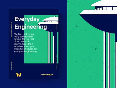 Everyday Engineering illustration brand poster wondrium