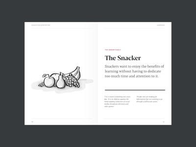Personas: The Snacker watercolor illustration grayscale blacker blacker pro book watercolor personas illustration wondrium