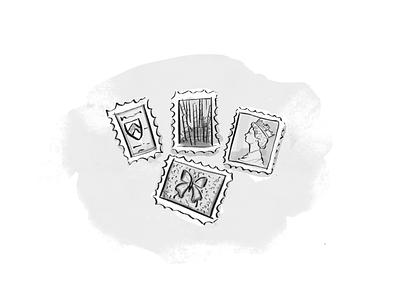 Personas: The Collector illustration grayscale blacker blacker pro wondrium watercolor illustration personas watercolor book