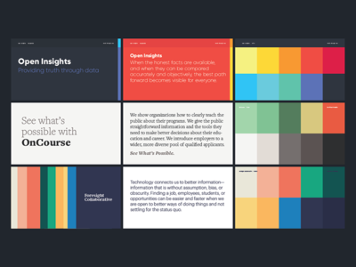 Brand Exploration typography identity color palette strategy brand