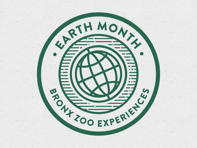Earth Month viget bronx zoo earth animals zoo identity icons illustration