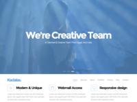 Kadalas - One Page Portfolio Template